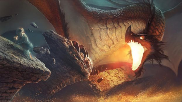 Smaug by ConceptArtOrg