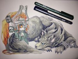 the fairy and the wolf by CuteTwilightPrincess