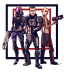 Mass Effect 2 Commish by BehindtheVeil