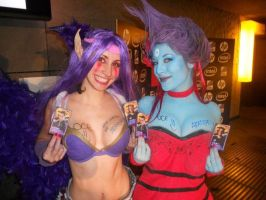 Morgana and Evelynn Cosplay with Autographs by MorganaCosplay