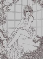 Waiting for you - lineart by iSkyloft