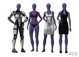 Aria T'Loak Alt Outfit Meshmods for XPS by Just-Jasper