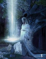 Galadriel and Her Mirror by Valerhon