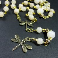 Dancing Dragonfly Necklace by Gilliauna