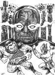 The New Gods, rough sharpie sketch by The-Savage-Ape-Man