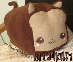Breadkitty Plush by KudTheUntitled