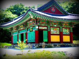 Korean Temple by spidermonkeykiss