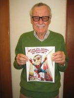 Stan Lee With His Card by NateJ25