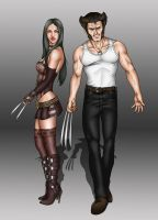 Logan and Laura by Darthval