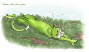 Fur Green Like Grass by StarlightsMarti