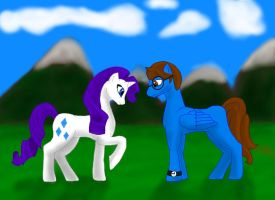 MLP Blane x Rarity request by bluewolf14