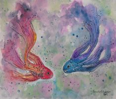 Two little fishes by ericadalmaso