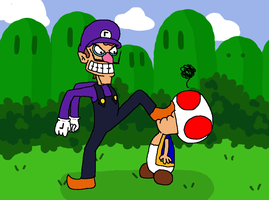 Too bad, Waluigi time by Funferno