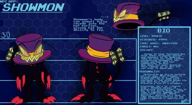 Assembly Arena: Showmon Reference - NPC Character by Chronic13lue