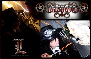 Steampunk Death Note: L by Maru-Light