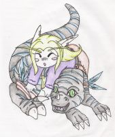 Kisharra and Taelon by SunFireDemon