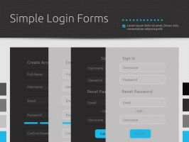 Simple Login Forms by etikau