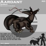 Aardant - Fake Pokemon by PineconePenguin