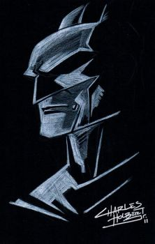 Black Paper Batman by KidNotorious