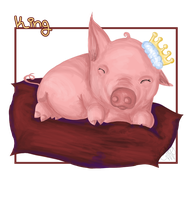 Sleeping Little King. by Mareve-Design