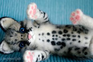 Needle felted ocelot by SaniAmaniCrafts