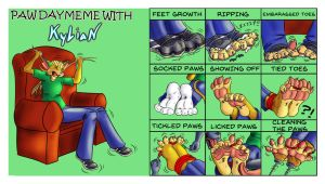 2015 Paw day meme, clean, no word balloons. by OXssO