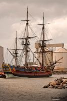 The Endeavour Replica in Port by RaynePhotography