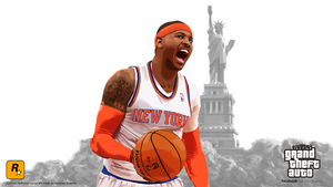 Carmelo Anthony in Grand Theft Auto by SanchezGraphic