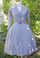 Vintage style belted dress by The-Cute-Storm