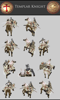 Templar Knight pose2 by Lowpoly-Workshop
