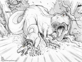 T-Rex Chase by transfuse