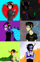 Homestuck Troll Boys (click for full view please) by Teise
