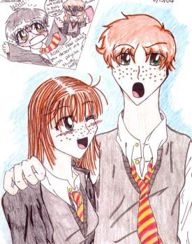 Ron and Ginny by Fred-Weasley