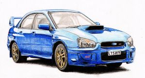 Subaru Impreza Drawing by Galbatore