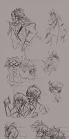 Kuroshitsuji Sketch Page part 2 by Simply-Psycho