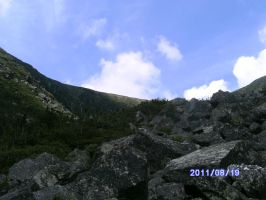 Mount Washington boulder path by jashinist112