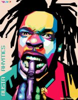 Busta Rhymes In WPAP by harrypotro