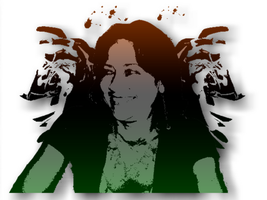 My mother in a Inkblot style. by TheMadSoldier