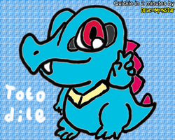 Totodile Quickie by Dracomonstar
