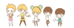 random exo chibi by minvisible