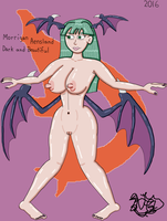 Morrigan Aensland Dark And Beautiful by TheNaughtyGoblin