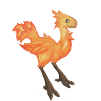 Fiery Chocobo by ExileofFyr