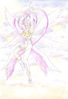 Angewomon colored - pencils by TeraMaster