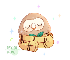 Day 09: Rowlet by BaekSkyward