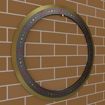 Time of Death Chakram Gold Edge 3D (Perspective) by Shadow696