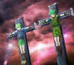 boys on the cross by uwaxaa