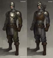 The medieval soldiers by GoddessMechanic