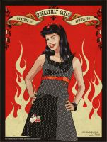 Rockabilly Girl I by AtixVector