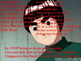 STOP HATEING ON ROCK LEE by TaintedYaoi