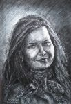 The portrait of a girl by ERSTE